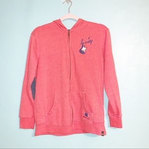 Lucky Brand Elbow Patch Guitar Zipped Hoodie